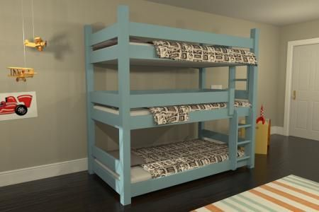 via BKLYN contessa :: maine bunk beds :: katahdin :: tripple bunk bed :: sustainable hard wood + non toxic finishes