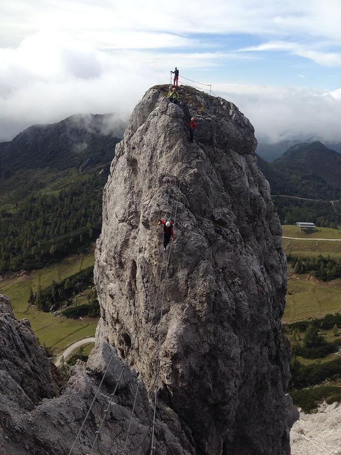 , Däumling Klettersteig Gartnerkofel, #Nassfeld #carinthia  #climbing in Austria