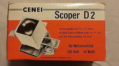 CENEI Scoper D2 Diabetrachter Doppellinse 77 x 77 f. Rähmchen 5x5 cm & 35mm Film