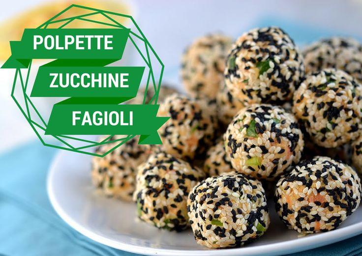 Polpette di zucchine e fagioli #ricette #polpette #zucchine #fagioli #videoricetta #veg #vegetariana #zucchini #balls #pinalapeppina