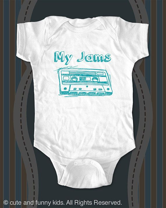 My Jams Mix Cassette Tape Baby One Piece Or Tee Printed