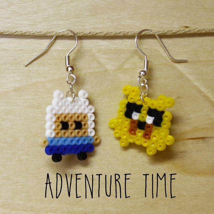 "Orecchini mini hama beads Adventure Time ""Jake e Finn"" : Orecchini di mrs-poppy"