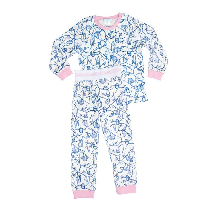 Florrie long john sloth pyjamas available in both doll and girl sizes. www.florrie.com.au
