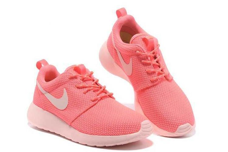 Nike Roshe Run Yeezy Womens Pink Hot Punch Shoes