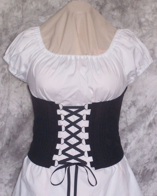 PIRATE WENCH COSTUME RENAISSANCE BODICE CORSET CINCHER in Clothing, Shoes & Accessories, Costumes, Reenactment, Theater, Reenactment & Theater | eBay