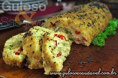 Rocambole de Bacalhau » Peixes e Frutos do Mar, Receitas Saudáveis, Tortas e Bolos » Guloso e Saudável