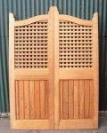 Surian Cedar Traditional & verandah gates - Lattice Batwing Pair Doors
