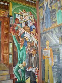 1039 best images about murals and mosaics on pinterest for Coit tower mural artists