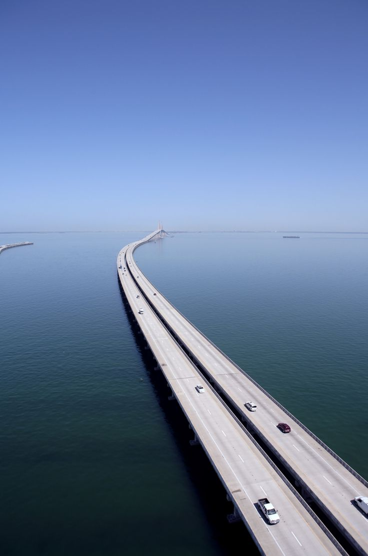 Sunshine Skyway bridge.-------Tampa, Florida