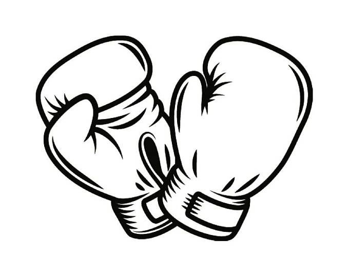 Boxing Logo 7 Fight Fighting Fighter Mma Mixed Martial Arts Etsy Boxing Gloves Drawing Boxing Gloves Clip Art