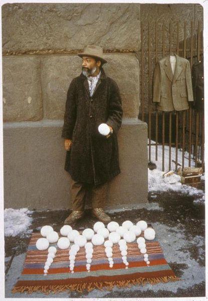 selling snowballs, 1983  David Hammons