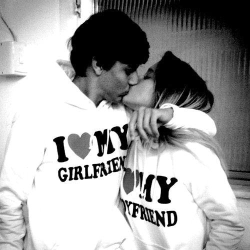 """I Love My Girlfriend/Wife"" & ""I Love My Boyfriend/Husband"" Wedding Colors Couple's Long Sleeve Sweatshirts"