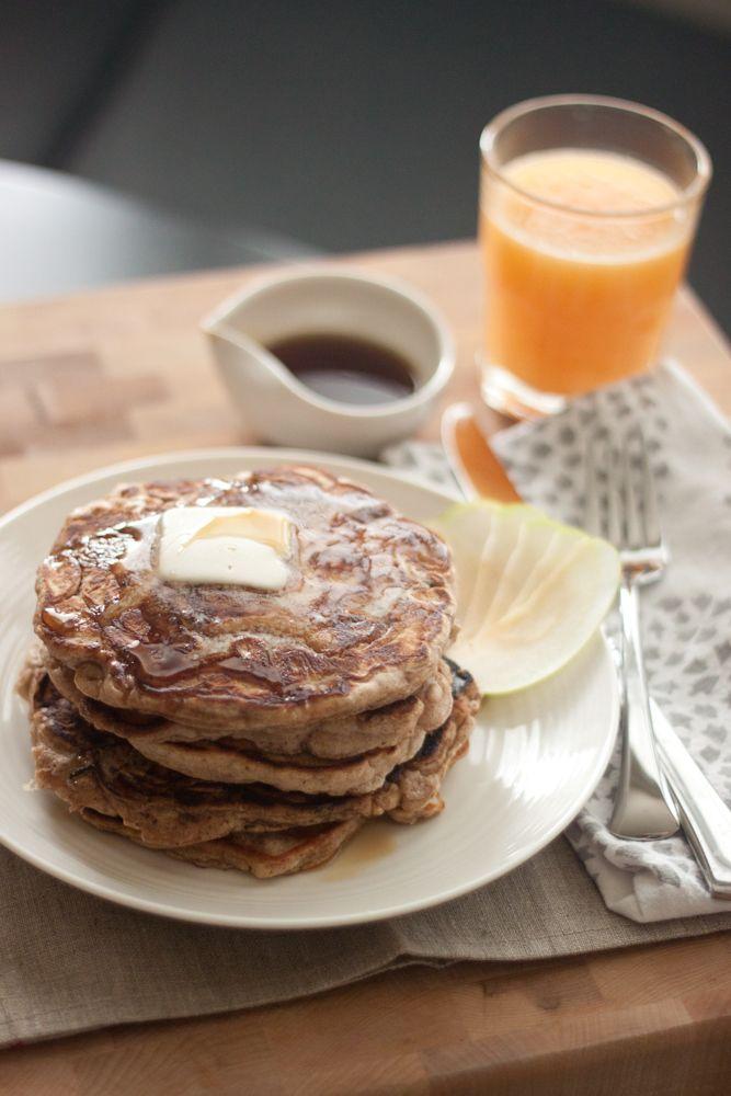Apple Cinnamon Pancakes.