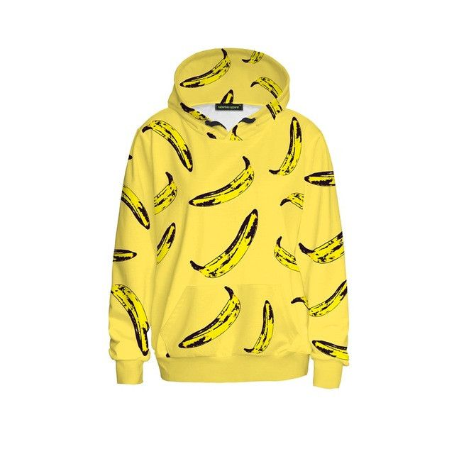 NADANBAO Women Hoodies Sweatshirt Long Sleeve Yellow Banana Casual Harajuku Pocket Hoodie For Women Pullover Sudaderas Mujer