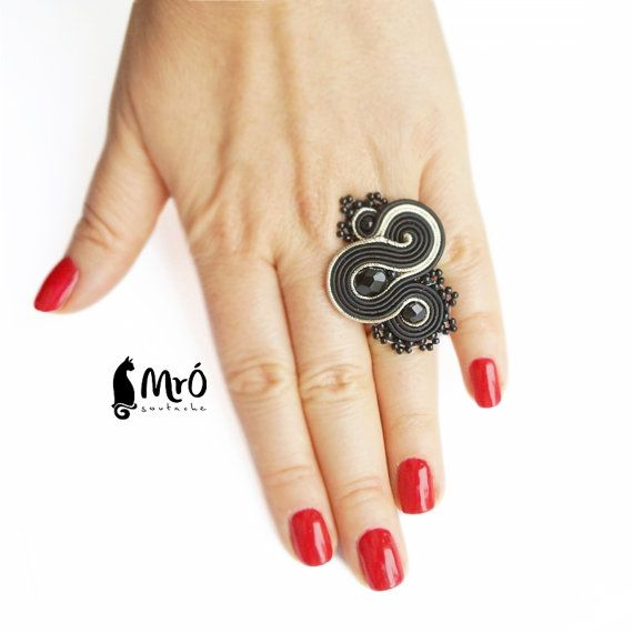 Baeutiful Soutache Rings anello soutache anneau by MrOsOutache