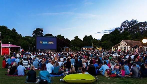 The gorgeous 18th century home and gardens at Chiswick House opens up every summer for a few nights of cinema. | Photo Credit: The Luna Cinema