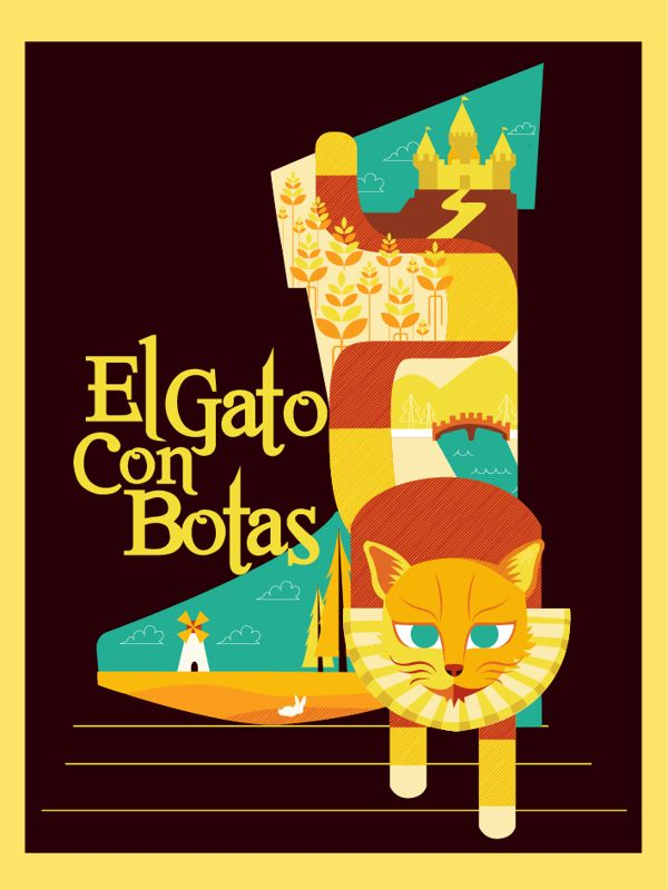 Puss in Boots poster on Behance