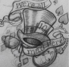 mad hatter hat drawing - Google Search