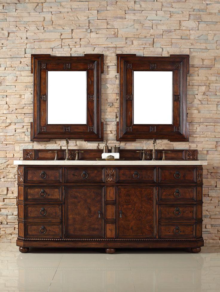 "Regent 72"", James Martin English Burl Transitional Bathroom Vanity, Do – The Vanity Store Inc."