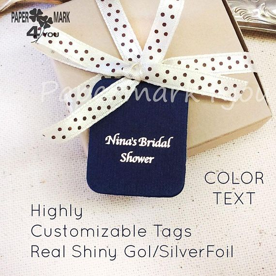 Gold Foil Tags _Bridal ShowerTag 1.2in_Thank You/Shower Tag_