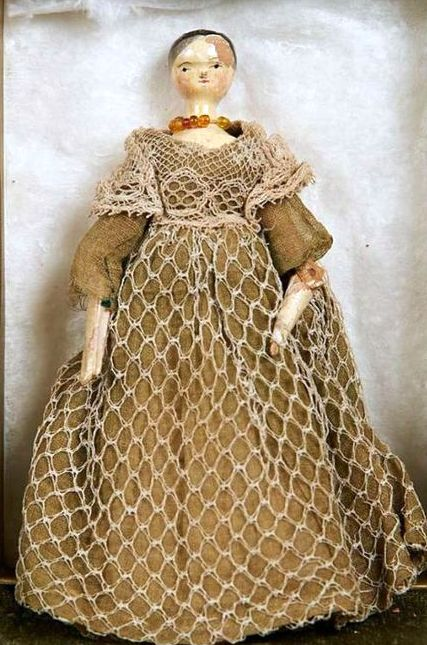 """Queen Victoria's Doll....the Princess Victoria was an isolated child by her mother Duchess of Kent & John Conroy.  Her only outlet were her """"dolls"""" which she made clothes for & stories about.  She owned over 150 of them."""