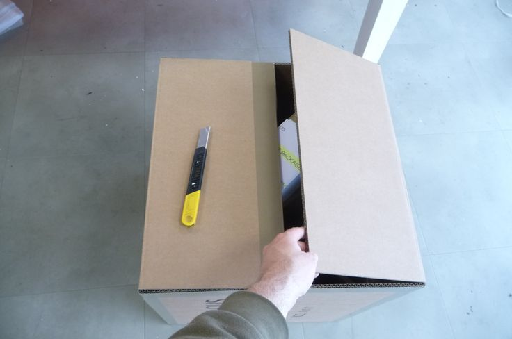 The box is now finally sealed, taped up and made ready to be sent out...
