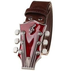 Retro Guitar Metal Belt Buckle with Belt