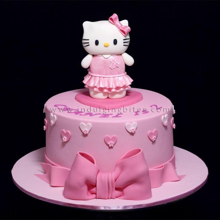 Hello Kitty in Pink Birthday Celebration Cake