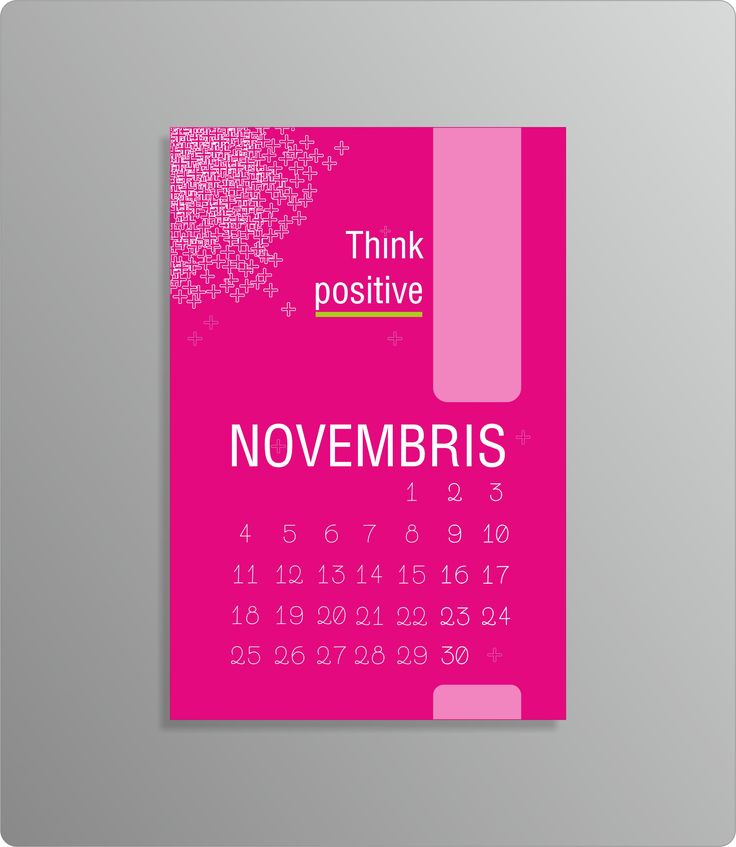 pink positive calendar