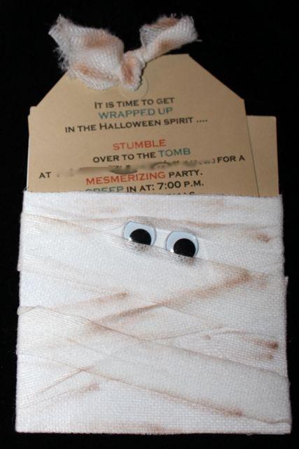 Mummy invitation.                                                                                                                                                                                 More