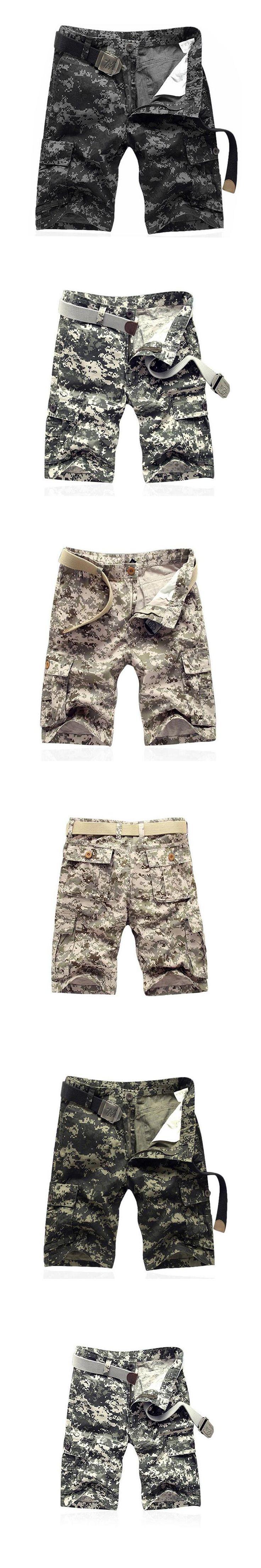 2017 Men Hot Sale Cargo Shorts Multi Pocket Casual Camouflage Summer Brand Clothing Male Fashion Army Work Shorts Plus Size 42