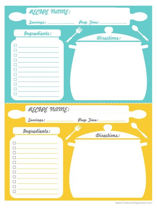 recipe cards print using 5x7