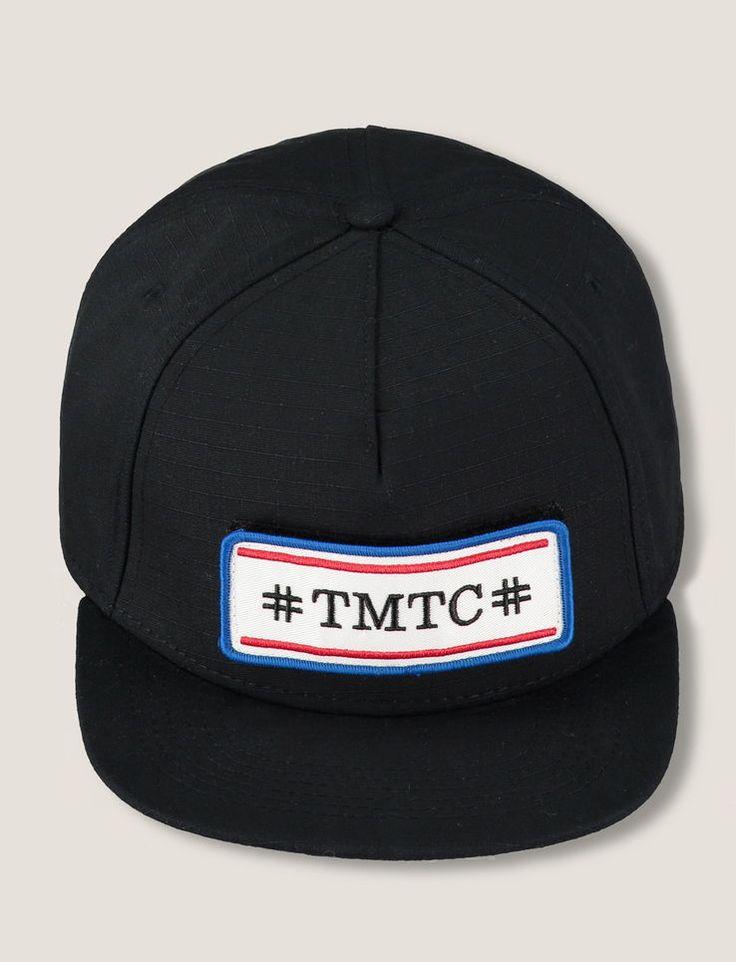 Casquette visière plate, broderie TMTC.