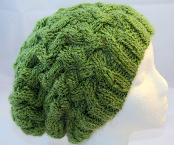 alpaca slouchy beanie by WoollyLoveHome on Etsy