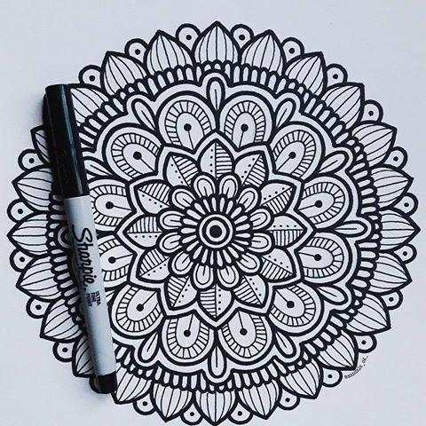 Mandalas Faciles De Dibujar A Lapiz