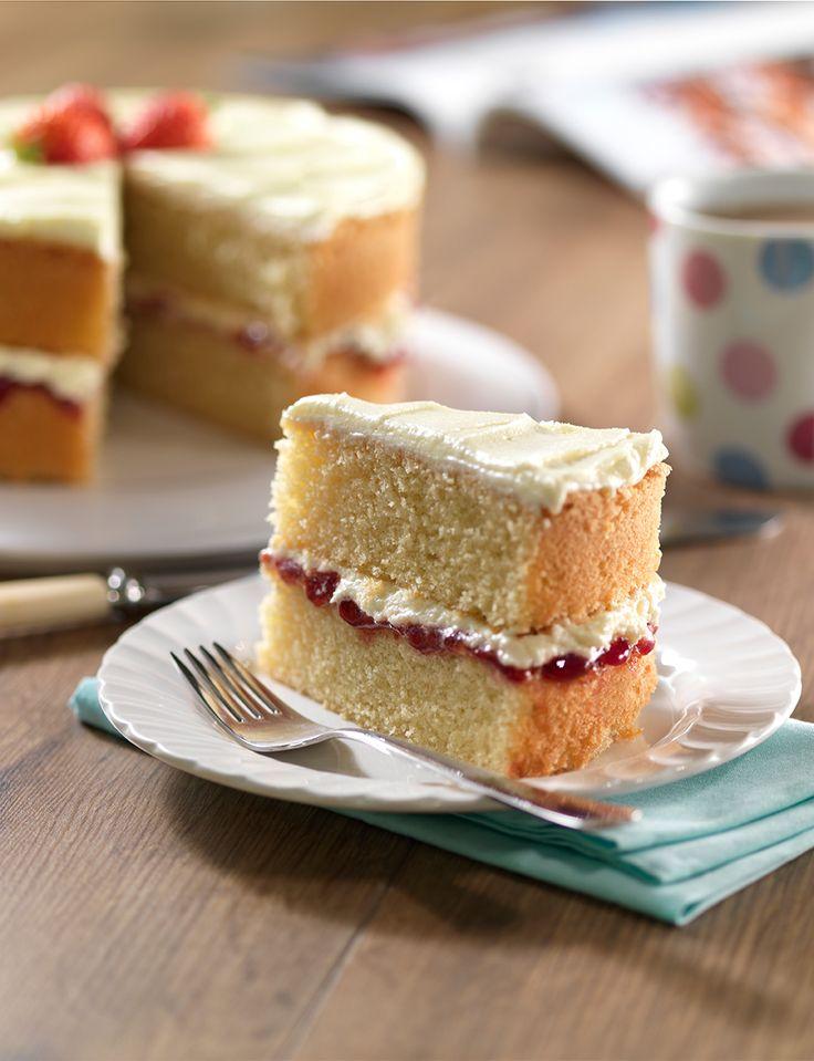 Victoria sponge http://www.sainsburysmagazine.co.uk/recipes/baking/special-occasion-cakes/item/victoria-sponge