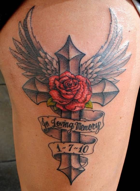 In loving memory of Papa, lovely and great memorial tattoo