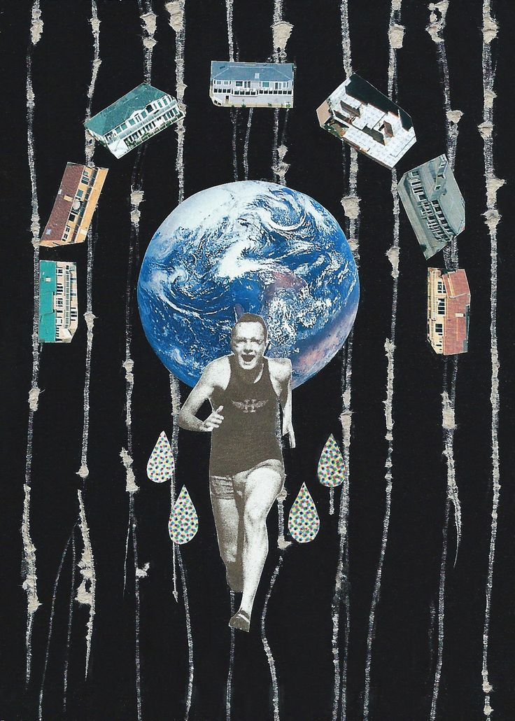 Collage from 'Free Your Mind' zine.  'Exercise' By Jemma Timberlake
