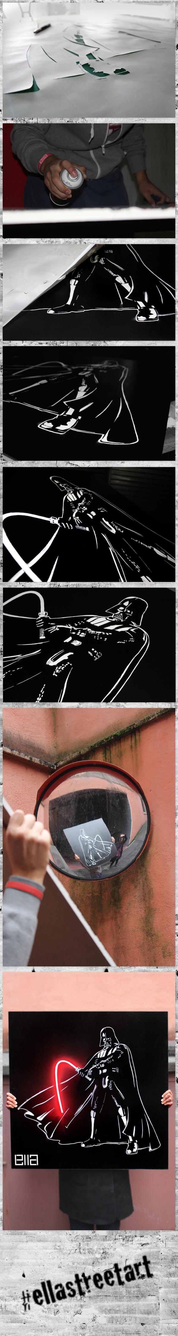 Darth Vader Off // LImpotenza Nera by Ella , via Behance