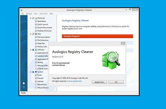 Néhány kattintással tudod a regisztrációs adatbázist megtisztítani a fölösleges bejegyzésektől az Auslogics Registry Cleaner nevű karbantartó szoftver segítségével, ami már szintén támogatja a Windows 10 operációs rendszert.