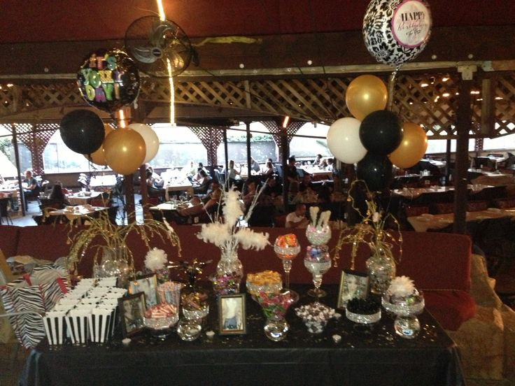 18th Birthday Candy Buffet Black Gold And Silver