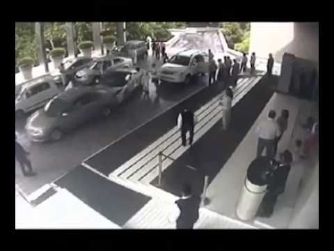 Shocking security video shows a hotel valet destroy a ...