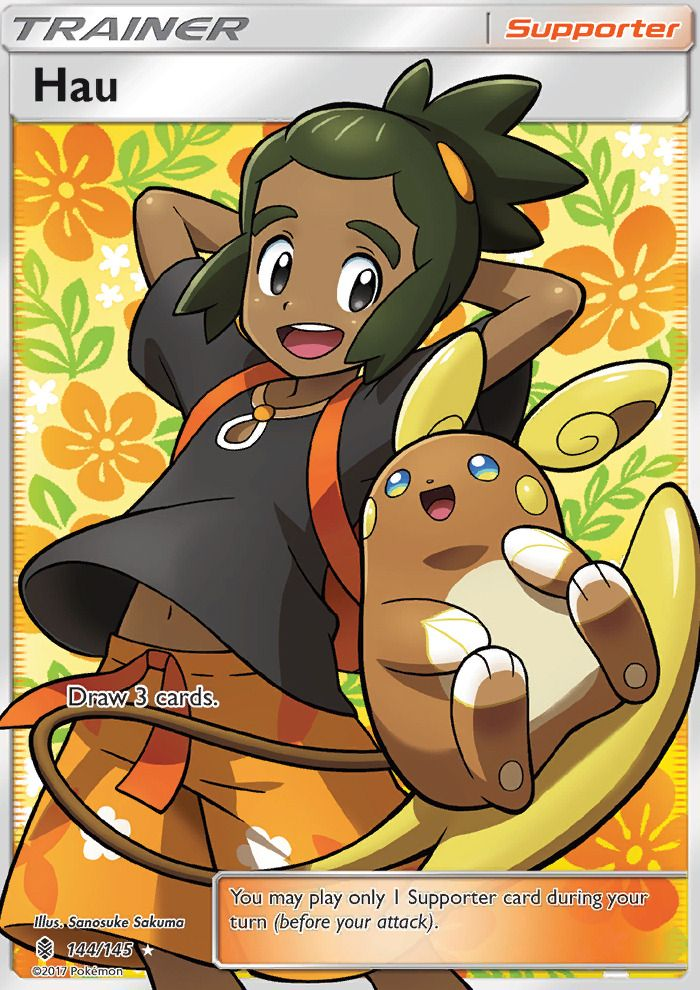 I want this card because Hau. Because of my cinnamon roll, Hau.