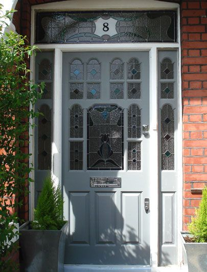 Grey Edwardian front door