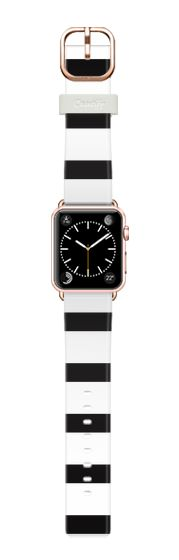Casetify Apple Watch Band (38mm) Casetify Band - Simple Black and White Stripes Design by Avawilde.com #Casetify