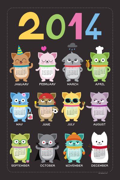 Calendrier 2014 - Petits Pixels