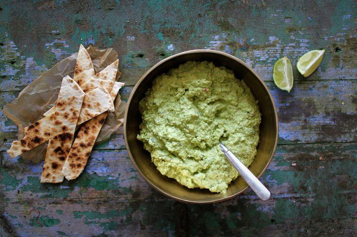 Guacamole med edamame bønner & lime
