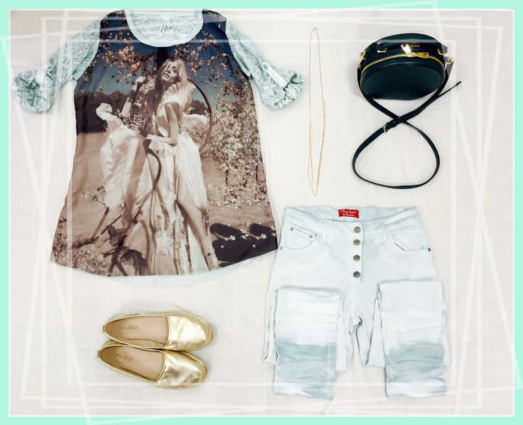 New Collection: Druck T-Shirt und Double Dye Trousers.  (Shoes by Aldo and Bag by Dolce Gabbana)