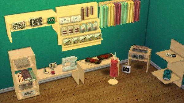 Leo 4 Sims Tailoring Set Conversion Sims 4 Downloads Furniture Pinterest
