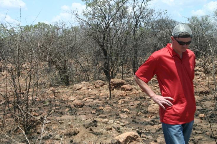 Geologist in the field